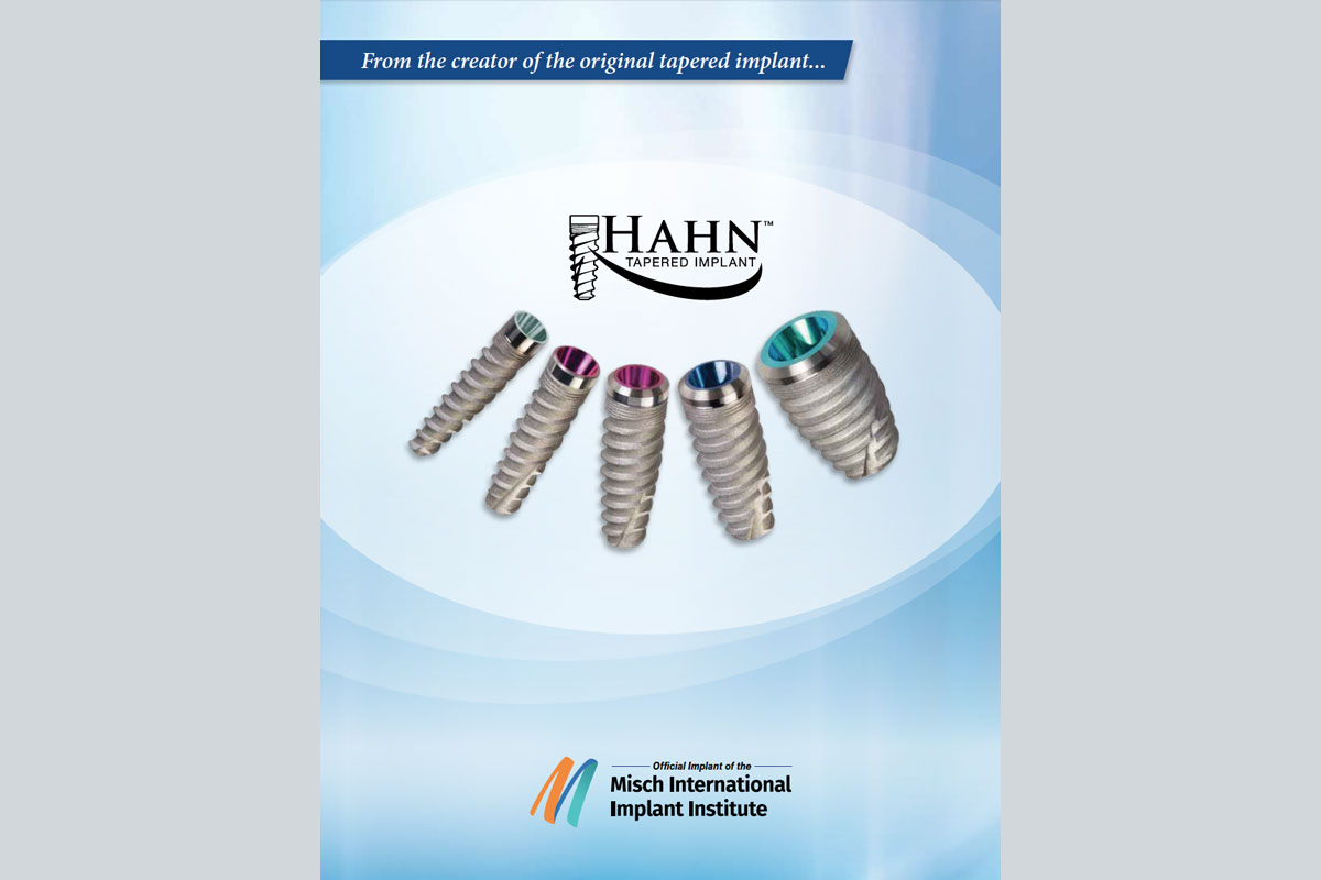 Hahn Implant Systems - Introductory Brochure - Read about the development of the Hahn Tapered Implant.